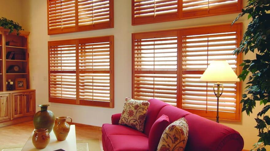 Plantation Shutters - timber plantation shutter installed on sitting room windows
