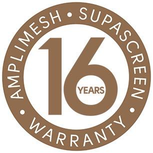 SupaScreen - 16 year warranty logo