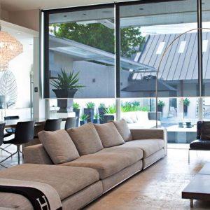 Motorised Blinds - blinds installed on living room windows
