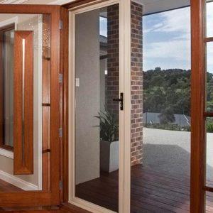 See-through security screen doors