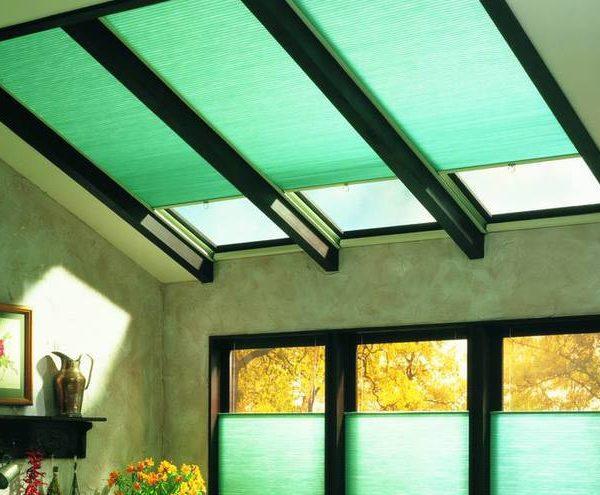 Skylight Shades - skylight roller blinds installed on skylights