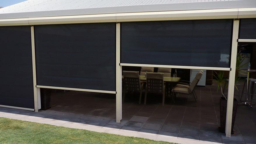 Ziptrak - Ziptrak blinds installed to Alfresco area