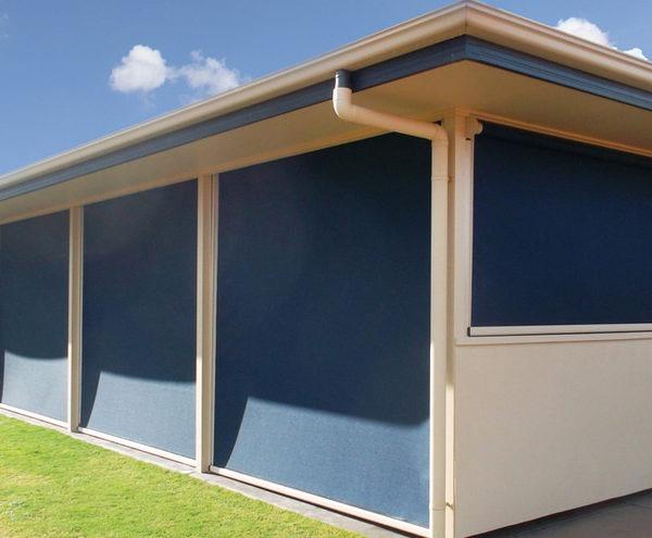 Ziptrak - Ziptrak outdoor blinds drawn on entertainment area