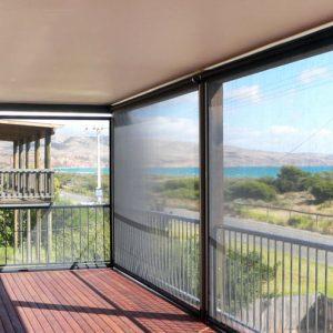 Ziptrak - Balcony with Ziptrak installed