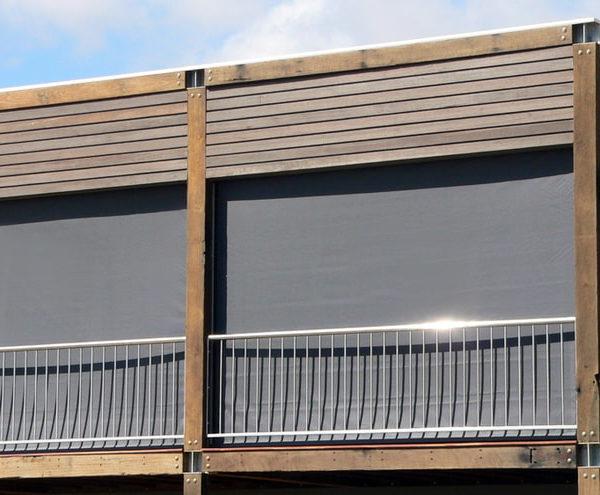 Ziptrak - Outdoor blinds installed on balcony