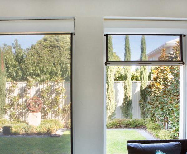 Ziptrak Blinds Installed On Living Room Windows